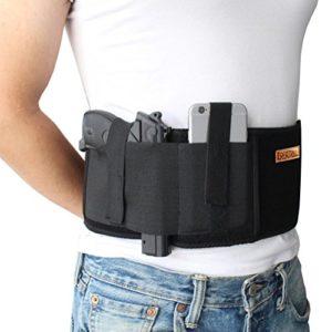Nianpu Bandeau Pistolet Holster côté Dessinez gauche ou droite abdominale Band étui à pistolet