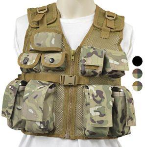 Nitehawk – Gilet tactique/de combat – style militaire/police – enfant – Camouflage clair