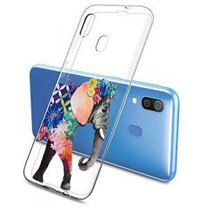 Oihxse Clair Case pour Samsung Galaxy J5 Prime/ON5 2016 Coque Ultra Mince Transparent Souple TPU Gel Silicone Protecteur Housse Mignon Motif Dessin Anti-Choc Étui Bumper Cover (A12)