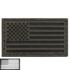 Olive Drab Green OD Infrared IR USA American Flag 3.5×2 IFF Tactical Morale Hook-and-Loop Patch