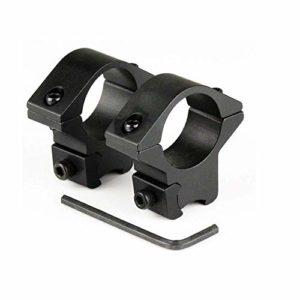 Paire de montage Bas pour lunettes de visée / Diamètre : ø 25,4mm / Hauteur : 40mm / Pour rails de prismes 11-13mm / En aluminium très dure …