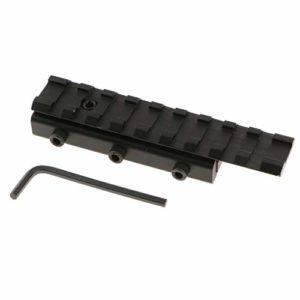 perfk Picatinny Dovetail Weaver Rail Rail Extension 11mm à 20mm / 0.43-0.79 Pouce