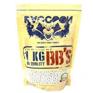 RACCOON Bio Extreme Precision Billes biodégradables pour Pistolet à Billes 1 kg 0,25 g