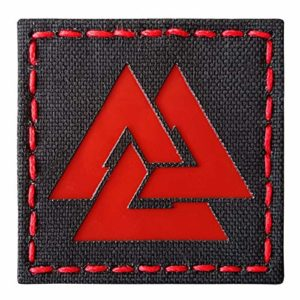 Reflective Red Viking Valknut Norse 2×2 Tactical Morale Fastener Patch
