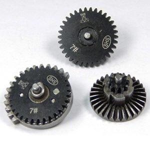 SHS AIRSOFT GEAR SET M14 UPGRADED REPLACEMENT GEARSET BLACK METAL