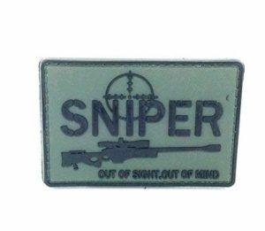 Sniper hors de vue, hors d'Esprit en PVC Airsoft Moral Patch