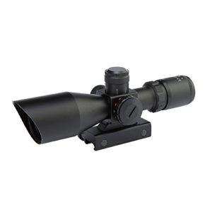 Spike Lunettes de visée Rifle Optique 2.5-10x40ER Chasse Red / Green Dot Scope Airsoft Gun Arme Sight