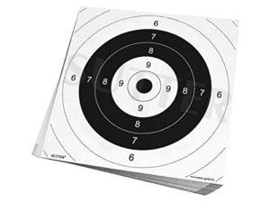 SUTTER Pack de 50 cibles pour tir 26x26cm, pour Airsoft, Softair, Petit calibres et Plus