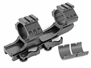 SUTTER Rail de Montage coudé et de Serrage Rapide pour 19-21 Weaver- and Picatinny Rail- avec Rails de 21mm / Montage pour Lunettes de visée