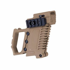 Tactical ABS Pistol Carbine Kit Magazine Combat Kit for WE/Marui G17 G18 G19 GBB Series Compatible with TM & WE G17 18 19 26 & Clone Load-on Hunting and Shooting