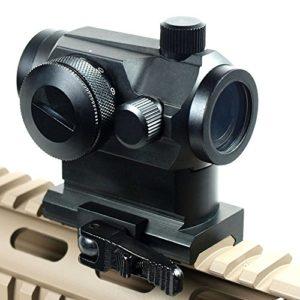 Tactical Area Visée à Points Rouges et Verts à réflexion Tactique holographique, viseur de Fusil Airsoft avec Double Profil Haut/Bas