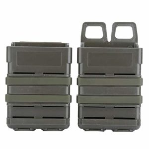 Tbest 3 Couleurs ABS Rapide Mag Pouch Set Magazine Poche Système de Molle pour 5.56 Mags(Noir)