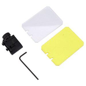Tbest Tactical Scope Lens Protector, 7 * 5 cm Vue Scope Lentille Red Dot Sight Lentille Couverture de l'écran Bouclier Tactical Scope Lens Protector pour Airsoft Chasse Tir Protecteur d'écran