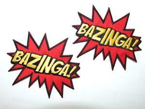 «The Big Bang Theory Bazinga The Big Bang Theory–Écusson brodé Patch à coudre/thermocoller Patch–2badges par onekool par onekool