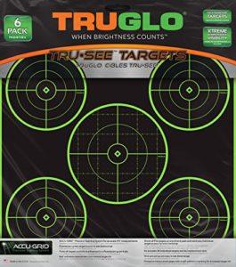 Truglo Tru-see 5-bullseye Reactive Splatter Cible, TG11A6, Green, 6-Pack