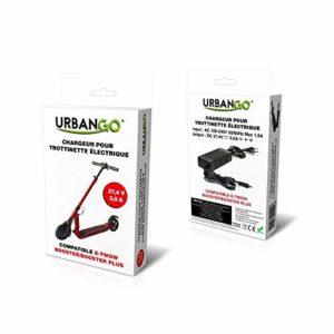 Urbango Chargeur pour Trottinette Electrique Compatible T-twow Booster Non, Noir, 0