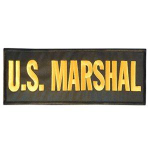 US MARSHAL Large XL 10×4 inch POLICE SWAT Bulletproof Vest Tactical Hook&Loop Écusson Patch