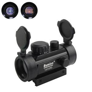 Vert Rouge Dot Vue Fusil Portée Reflex Optique Holographique Tactique S'adapte 11mm / 20mm Rail avec Flip Up Cover Lens pour Airsoft Gun