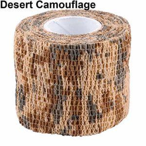 xMxDESiZ Ruban De Camouflage Extérieur,4.5m x 5cm Militaire Randonnée en Plein air Camping Chasse Camouflage Furtif Camo Tape Camouflage du désert