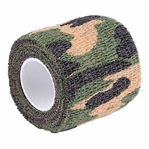 xMxDESiZ Ruban De Camouflage Extérieur,4.5m x 5cm Militaire Randonnée en Plein air Camping Chasse Camouflage Furtif Camo Tape Ruban Polyimide Marron