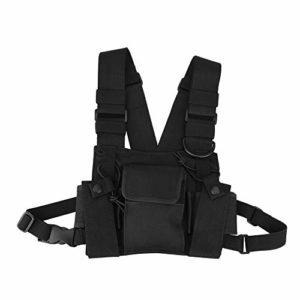 Zerone Walkie-Talkie Chest Bag Sac Mains-Libres Universel Ajustable à Suspendre avec Un Nylon de Haute qualité