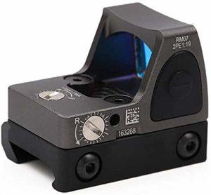 ACA LED réglable Point Rouge Vue Point Rouge, la luminosité à la réflexion du viseur est réglable pour régler la Plage de luminosité du Canon à chaîne de Montagne,Grey