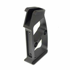 Airsoft Parts 5KU Aluminum Pistol Grip Poignée Pistolet (Type 1 – Ball) for M4 M16 Series GBB Black Noir