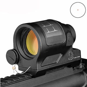 ERGUI Reflex Sight Solar Power System Hunting 1X38 Red Dot Sight Scope with QD Mount Optics Rifle Scope