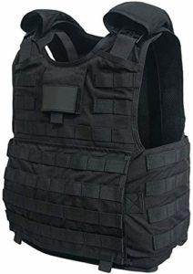 Gilet d'auto-Protection Gilet de sécurité Molle réglable Niveau 3 Armure corporelle Contre Le terrorisme Gilet Tactique (Gilet Tactique (B))