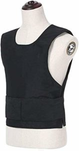 Mnjin Gilet d'autoprotection Kevlar Body Armor Plate Gilet Tactique Veste antiterroriste légère Peut être cachée Protection de la Poitrine (Gilet Pare-balles (C))