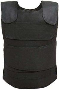 Mnjin Gilet d'autoprotection Kevlar Body Armor Trois Niveaux à l'épreuve des balles Peut empêcher Les balles de 7,9 mm Gilet Tactique Vêtements résistants aux Poignets Anti-terrorisme Gilet à l'ép
