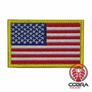 Patch Militaire Écusson Brodé avec sa lanière Velcro pour airsoft/paintball Drapeau les États-Unis d'Amérique pour Sac à Dos Tactique Vêtements,…