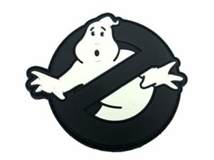 Patch Nation Ghostbusters Écusson Phosphorescent en PVC pour Airsoft et Paintball Noir