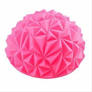 YJQQ Ballon De Yoga Massage De Pied Diamant Balle Durian Balance Yoga Demi-Balle Masseur De Pied États-Unis Rose