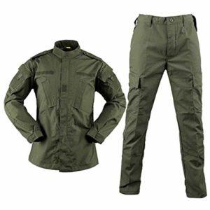 2020 Army Combat Uniforme, Militaire Camouflage Multicame, Vêtements Tactique Airsoft Paintball Équipement – Vert – XL