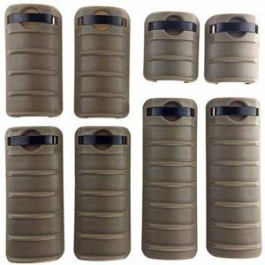 Airsoft magic Polymer Rail Covers for 20mm Rail 8 Pack Airsoft – Dark Earth