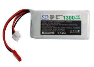 Batterie Compatible avec Airplane, Helicopter, Racing Car, Scale Boat JST-SYP-2P Li-Polymer 7.4V 1300mAh – 30C