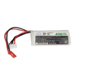 Battery for Airplane, Helicopter, Racing Car, Scale Boat JST-SYP-2P Li-Polymer 11.1V 450mAh – 30C