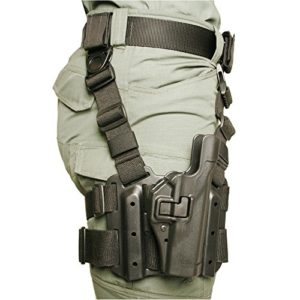 Blackhawk. SERPA Level 2 Tactical Holster- Finition Mate, Mixte, Noir