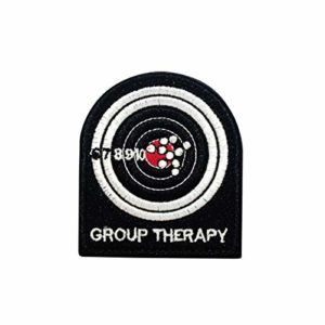 Cobra Tactical Solutions Embroidery Patch Group Therapy with Hook & Loop for Cosplay/Airsoft / Paintball
