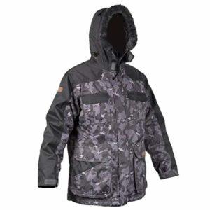 CWHMYB Camouflage Veste Costume Costume de Sport en Plein air Veste Veste de pêche Chasse Observation des Oiseaux Camping Aventure Ainsi Que Velours Hiver Chaud imperméable Camouflage (Size : S)