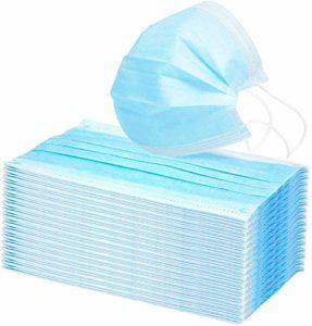 LOKASS 40 Pièces Filtre Facial Protection Jetable Nez et Bouche à 3 Couches pour Adults