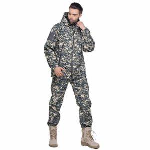 LXYFMS Entraînement de Camouflage, Chasse cachée, Sports, Alpinisme, Pistolet à air pour Hommes, Chemises et Pantalons de Paintball Costume de Camouflage (Size : M)