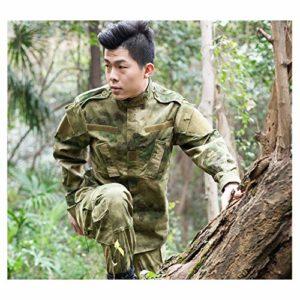 LXYFMS Tenue de camouflage sport alpinisme ruines mis résistant à l'usure coupe-vent imperméable à l'eau chemise anti-chasse à manches longues pantalon multi-poches costume de formation Costume de cam