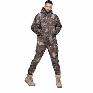 LXYFMS Vêtements de Camouflage entraînement en Plein air Course à Pied Sports équitation Escalade garçon Mode Coupe-Vent imperméable Costume de Camouflage (Size : XXXL)