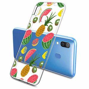 Oihxse Clair Case pour Samsung Galaxy A2 Core Coque Ultra Mince Transparent Souple TPU Gel Silicone Protecteur Housse Mignon Motif Dessin Anti-Choc Étui Bumper Cover (A4)
