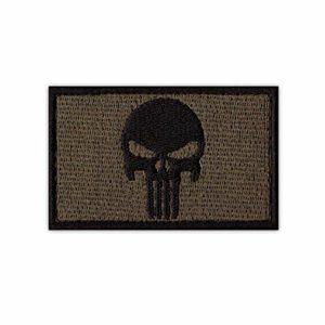 Onuris Punisher Skull Tactical Military Morale Patch Punisher Tête de mort bande Velcro, vert