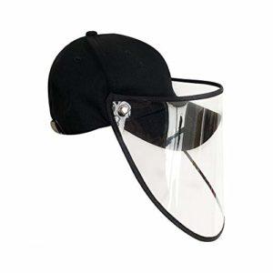 qinyongani Été Anti-buée Salive Capuchon de Protection Casquette de Baseball Masque Facial Protection Solaire Chapeau de Soleil