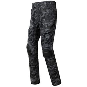 QMFIVE Pantalons Airsoft, Pantalons Tactical Airsoft Homme Pantalons Combustibles BDU avec Style Militaire