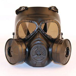 SGOYH Masque Protecteur Anti-buée Anti-Brouillard pour Objectif fumé avec Double Ventilateur Turbo Tactique Airsoft Paintbal Protection Gear